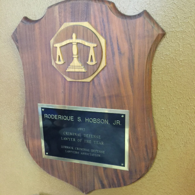 Rod Hobson, Outstanding Criminal Defense Lawyer The Year of 1992
